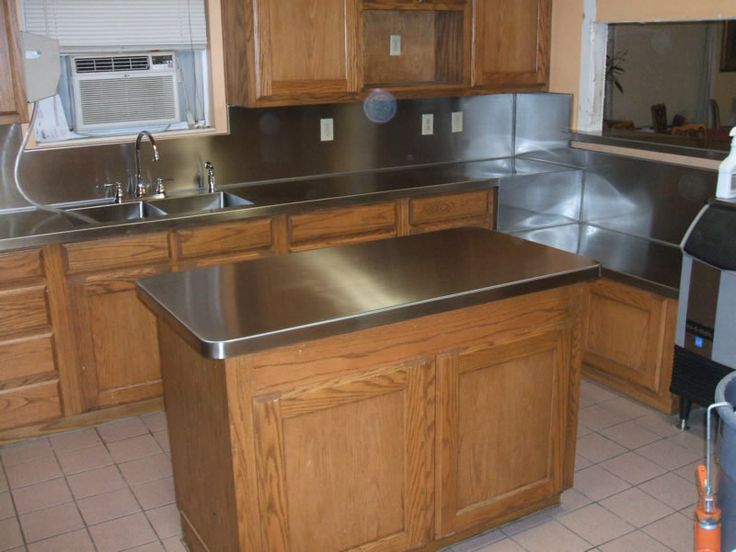 Best 25 stainless steel countertops cost ideas on for Stainless steel bathroom countertops