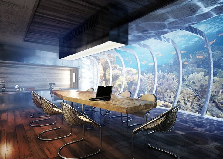 The world's largest underwater hotel is being planned for Dubai, with rooms both on the seabed and on stilts above the surface