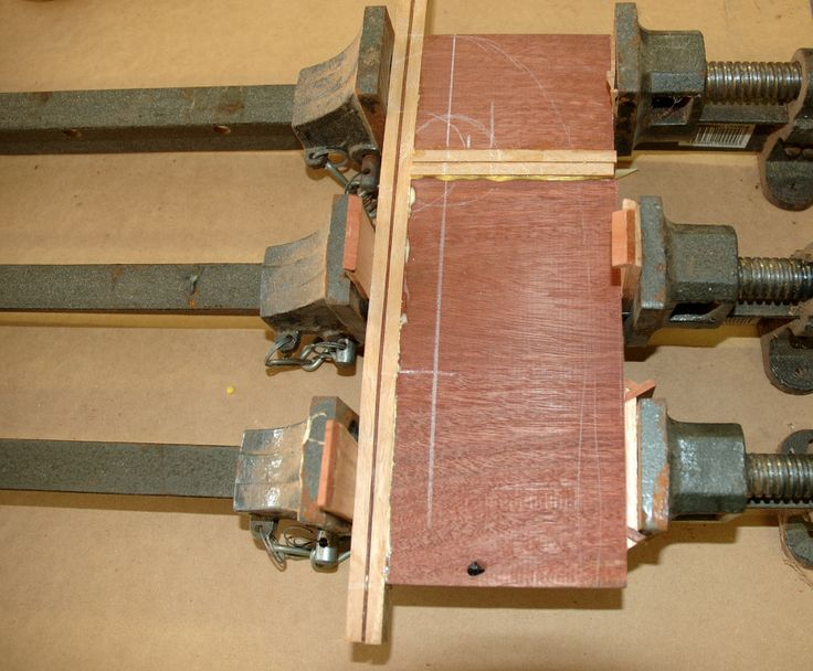 Step 9: The second inlay is glued to one end of the board