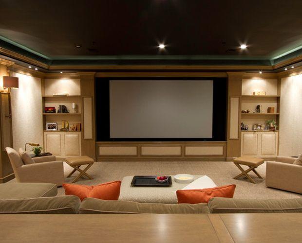 Contemporary Media Room Bethesda Maryland Home Interior
