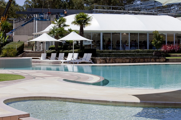 Relax by the pool! Or dine at the Bistro overlook the gardens and water!
