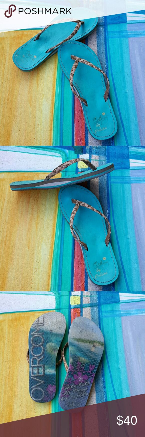 Bethany aqua blue flip flops with arch support I wore these a couple of times and then promptly forgot about them for over a year. My loss, your gain! Cobian Shoes Slippers