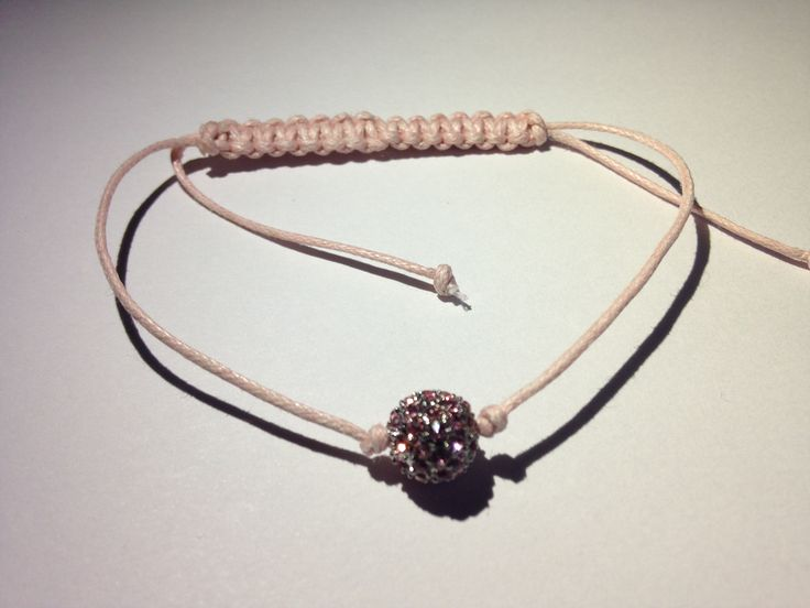Chios jewelry. Charm and cord bracelet. Roses color. Beautiful bracelet. Made with love. Hands made