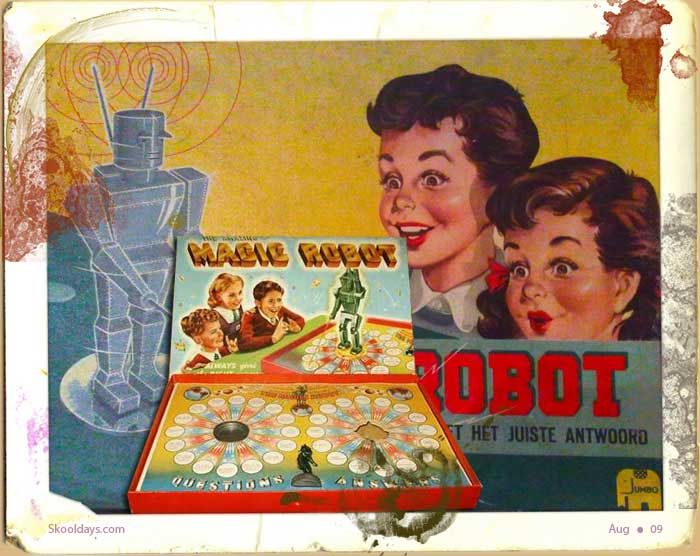 Magic-Robot-Quiz-Game  Magic Robot Quiz Game - the 1950's version of Trivial Pursuit limited to just over 100. So you can imagine it didn't last long before you knew all answers