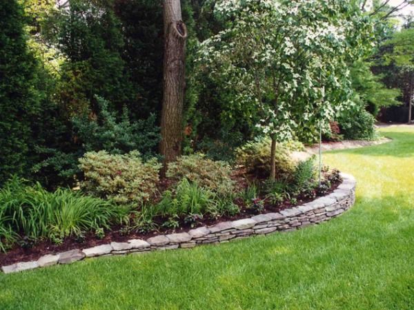 Low retaining wall