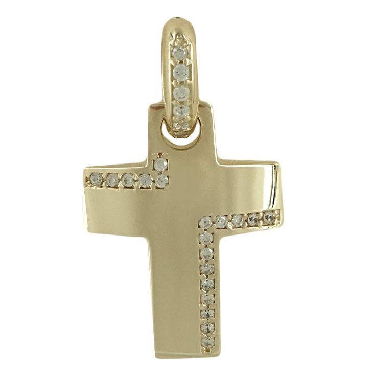 ΜΕΤΑΛΛΟ: Κίτρινος Χρυσός ΚΑΡΑΤΙΑ: 14 ΔΙΑΣΤΑΣΕΙΣ: 2.60*1.60 cm (με τον κρίκο) ΦΙΝΙΡΙΣΜΑ: Λουστρέ ΠΕΤΡΕΣ: Signity Stones