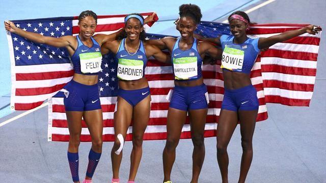 US win women's 4x100m relay, fifth gold for Allyson Felix - Rio 2016 - Athletics - Eurosport