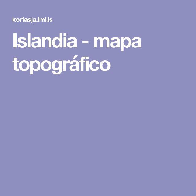 Islandia - mapa topográfico