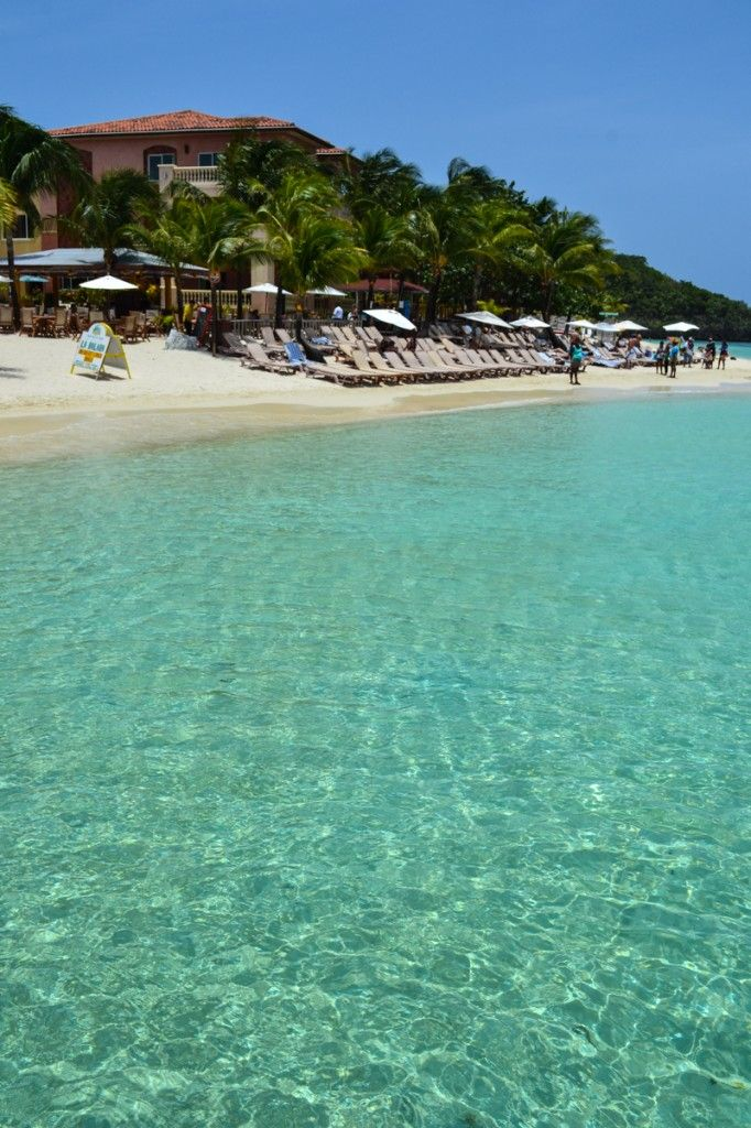West Bay Beach Roatan, Honduras - The world's second-largest coral reef sits just offshore making this beach an ideal destination for divers