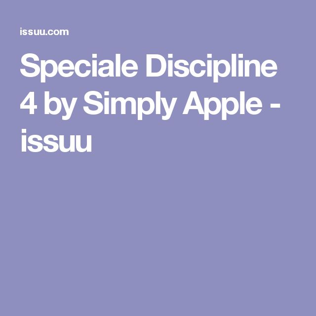 Speciale Discipline 4 by Simply Apple - issuu