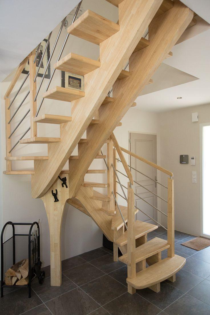 les 19 meilleures images du tableau escaliers sur pinterest escaliers bois sur mesure et en bois. Black Bedroom Furniture Sets. Home Design Ideas