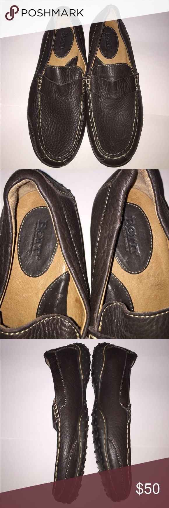 Born Brown Pebbled Leather Shoes Size 9.5 Born Brown Pebbled Leather Shoes Size 9.5. They are in very good condition. Born Shoes Flats & Loafers