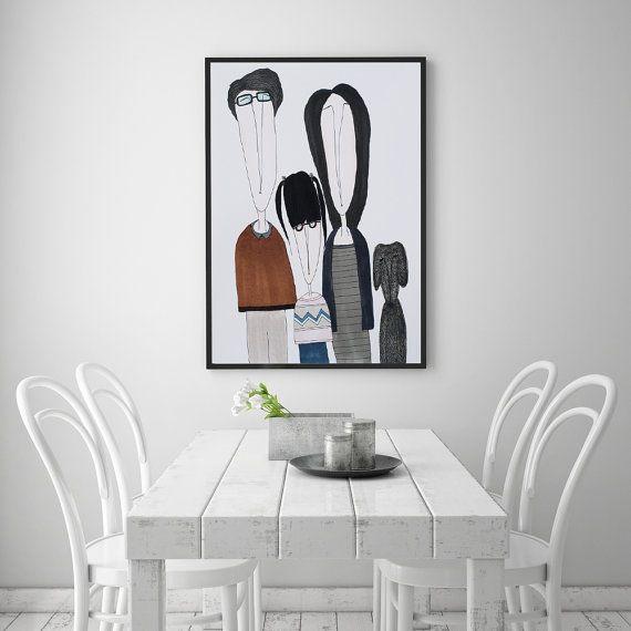 PRINT  NUCLEAR FAMILY: Illustration Print. by ekinakis on Etsy