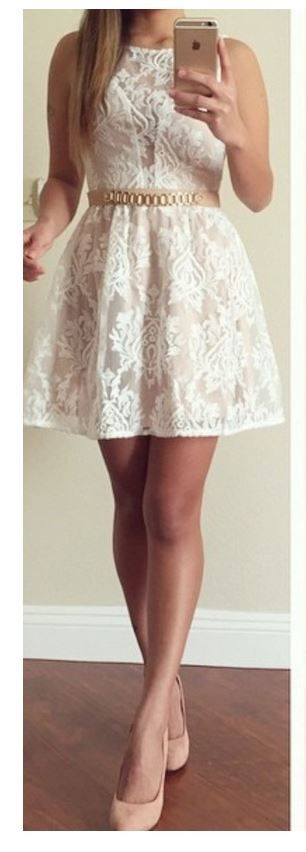 Beautiful lace dress.