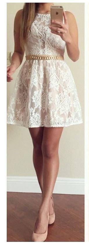 Beautiful lace dress.
