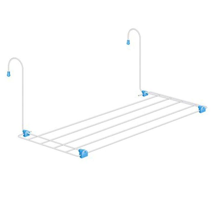 Varal portátil e bem leve. Ideal para pequenos espaços e também para levar em viagens.  Medidas do varal aberto: (Alt. X Larg. X Prof.); 0,500m x 0,330m x 0,020m