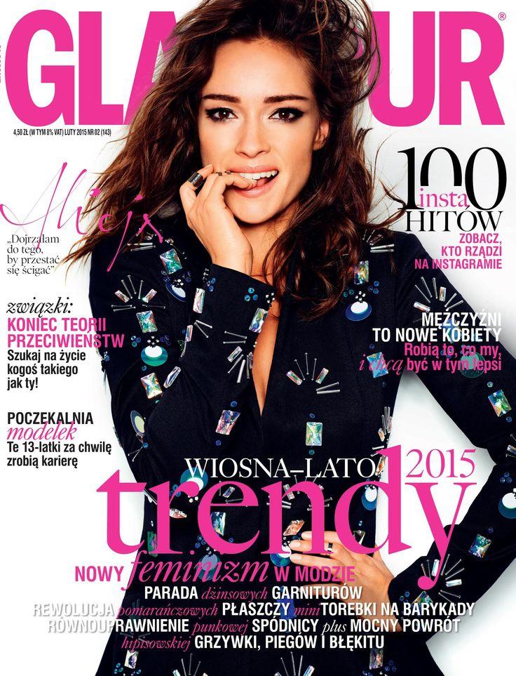 Alicja Bachleda-Curuś na okładce lutowego Glamou 2015