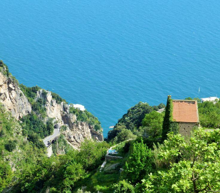 The view towards Praiano and La Praia beach