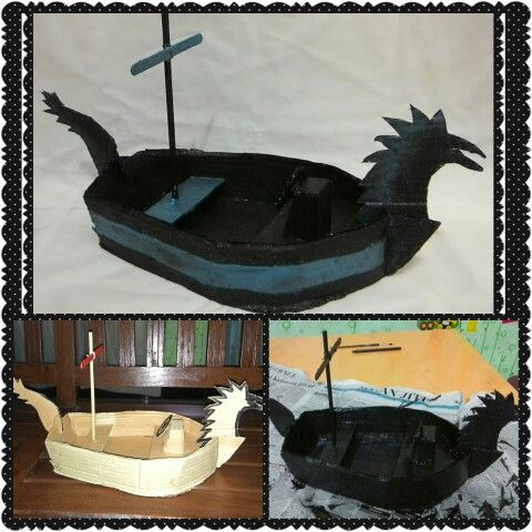 Boat from recycled material