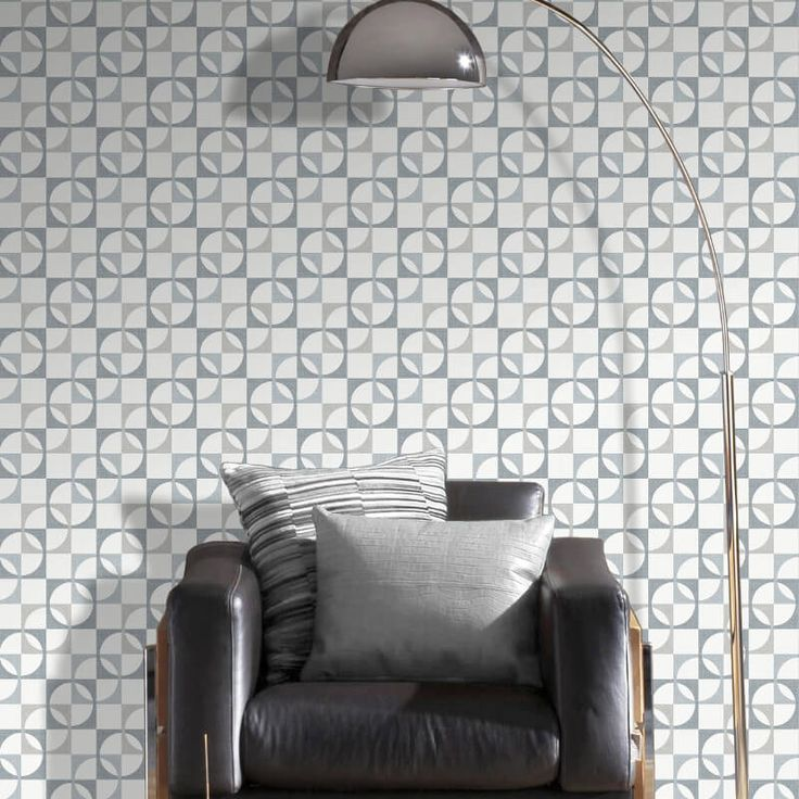 Add retro inspiration to any room with this grey geometric wallpaper from Rasch. The Rasch Revival collection is in stock at Go Wallpaper UK.