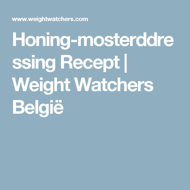 Honing-mosterddressing Recept | Weight Watchers België