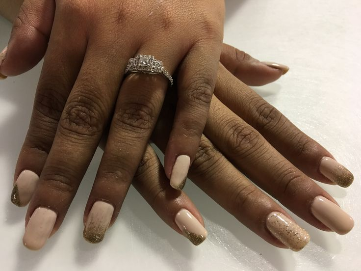Be there in presecco & all sparkly & gold both by opi & golden treasure by gelish 💅🏽 #gelmani #gelpolish #gelcolor #opi #gelnails #realnails #polishednailbar #gelish @polished_nail_bar @opi_products @gelish_official Congrats love @kenia.lb 🙂
