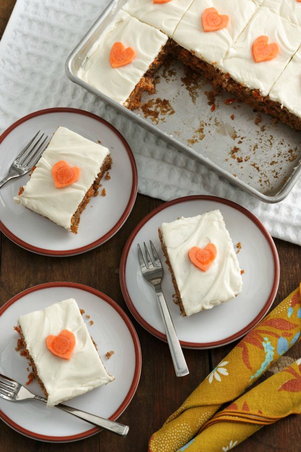 Everyone needs a classic carrot cake recipe for springtime occasions. This one is one of our favorites—it's super easy to make from scratch, and the walnuts add a lovely texture. If you don't have time to make the frosting, use Betty Crocker Rich & Creamy cream cheese frosting instead!
