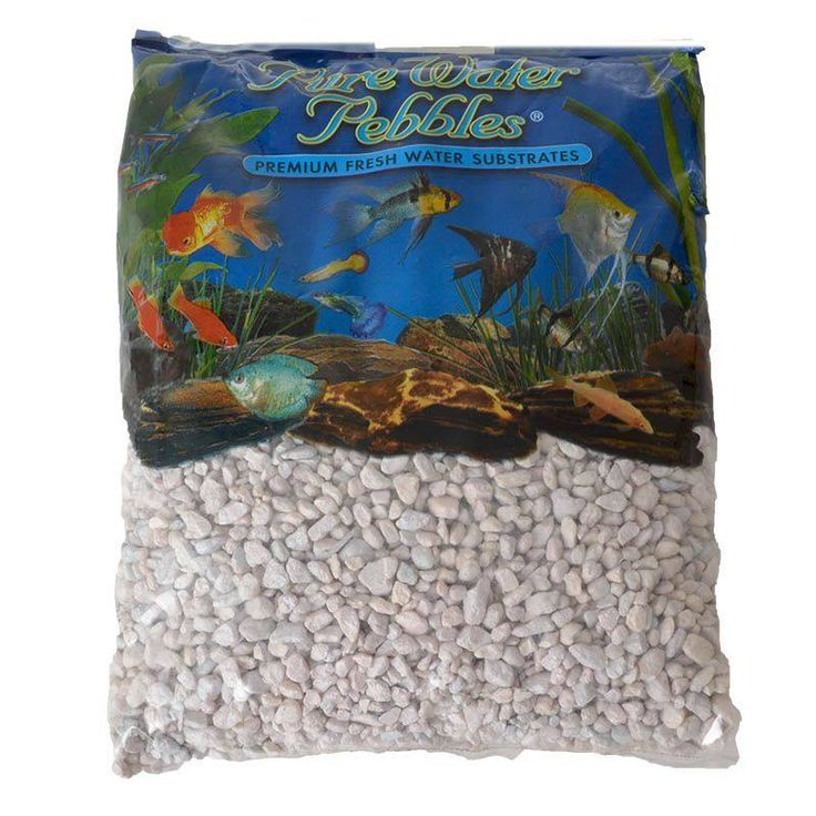 🐠 5lb Pure Water Pebbles Aquarium Gravel Snow White is a natural freshwater aquarium gravel substrate. Fish-safe 100% acrylic coating. Non-toxic and colorfast, will not alter aquarium chemistry. Ideal for aquariums, ponds, terrariums, crafts, landscaping an