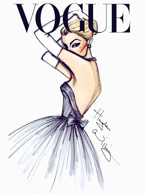 #Hayden Williams Fashion Illustrations  #'J'adore Vogue' by Hayden Williams