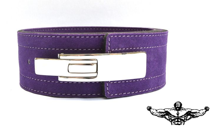 Quest Powerlifting Belt with Lever Buckle (Purple) - 10mm Weightlifting Crossfit Strongman (21 - 28 Inch Waist (X-Small))
