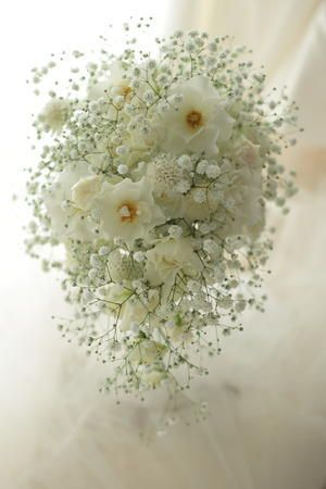 wedding bouquet babies' breath ブーケ かすみ草