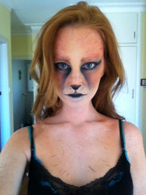 Fox face paint...would be more complete/more awesome with ears...