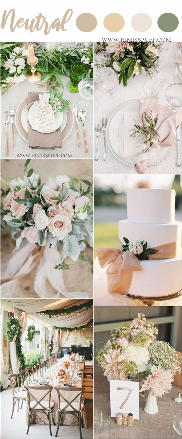 Wedding Color Trends 2021 45 Neutral Spring Wedding Color Ideas Wedding Color Schemes Spring Wedding Theme Colors Spring Wedding Colors