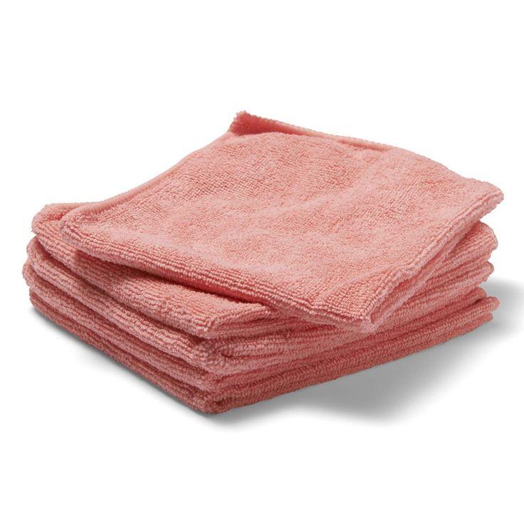 Brighton Professional Strikket rengjøringsklut av mikrofibre, rosa, 350x380mm | Staples®