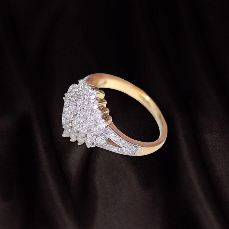 Diamond ring- gold band   Call us now for diamond jewellery, designer jewellery, bridal and semi bridal jewellery on 0124-42000518 to walk in our showroom in Gold souk mall, Gurgaon.  #Diamonds #Diamondjewelry #bridaljewelry #designerjewellery #diamondrings #luxuryjewelry