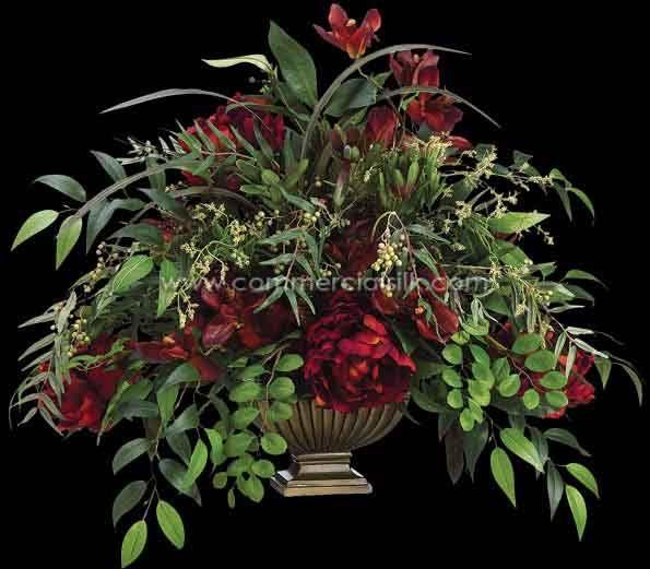 Commercial Greenery Arrangements Artificial Flower Arrangement W Cymbidium Peony Greenery