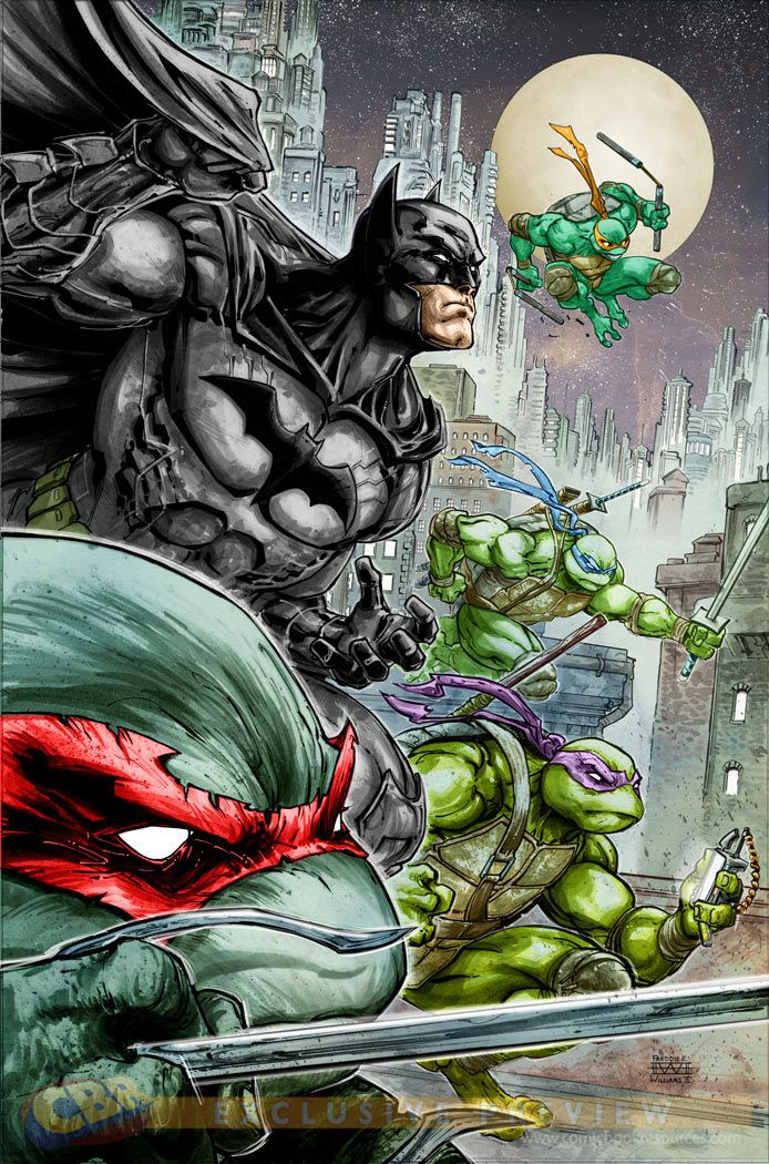 Batman TMNT Freddie E Williams 2
