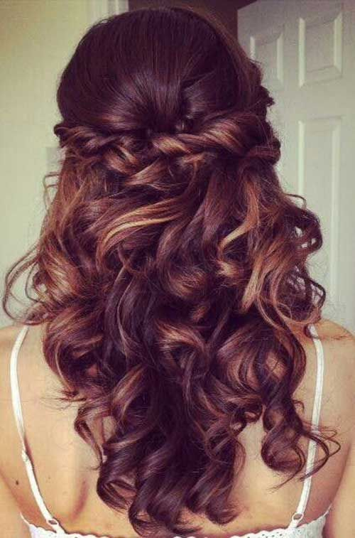 Image result for pretty brunette bridesmaid hairstyles