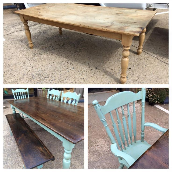 Awesome Table Set Done By Copperwood Company Using #DixieBellePaint Dixie  Belle Blue And No Pain. Refinished FurnitureBlue Painted ...
