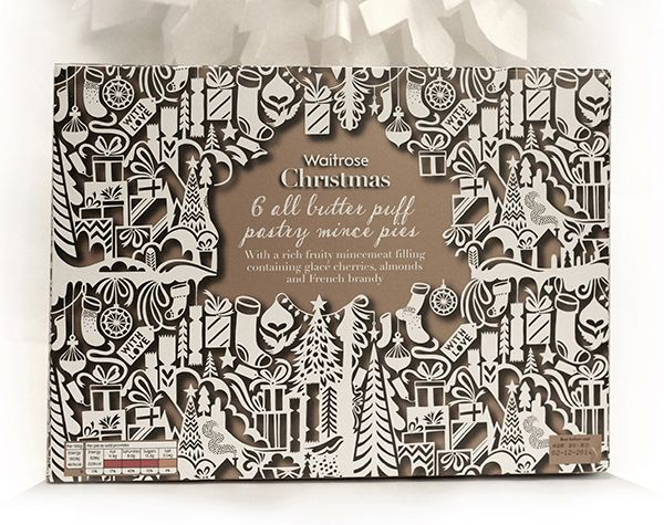 Waitrose Christmas packaging 2014 by Kate Forrester
