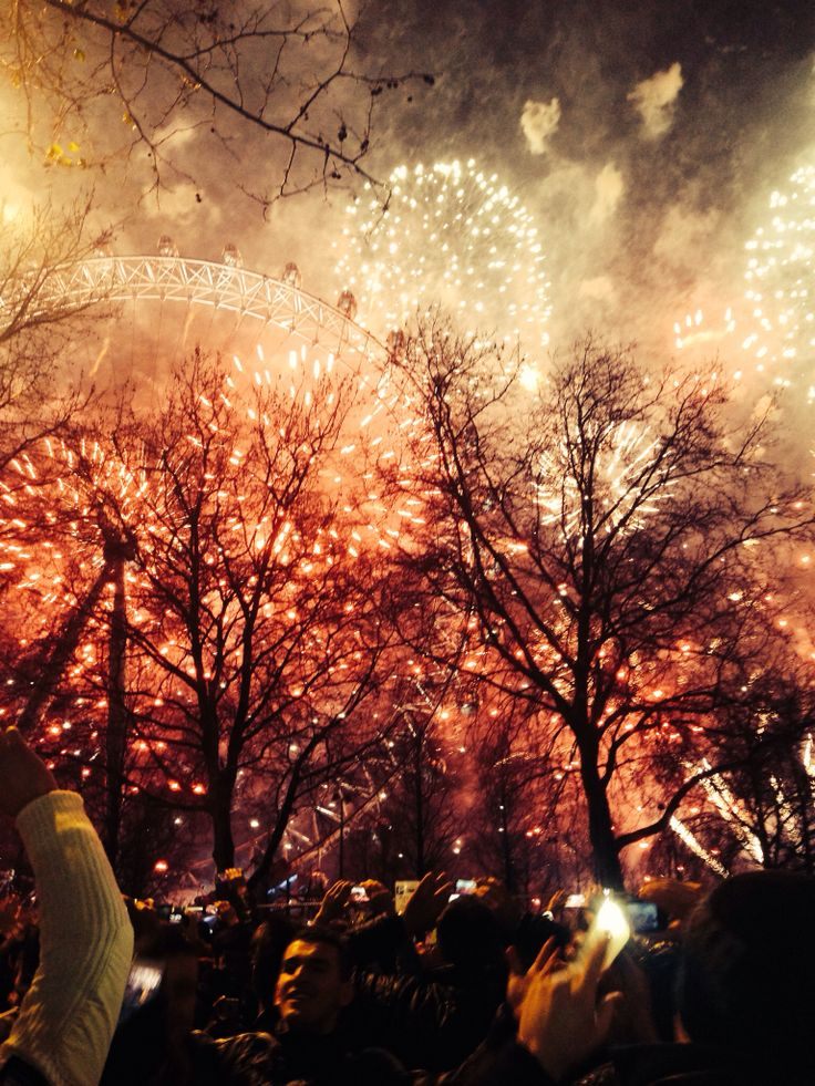 London Fireworks 2014, I was stood in a crown like this :)