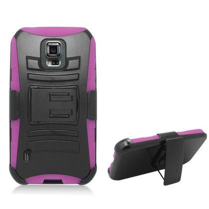 Zizo Heavy Duty Armor Holster Combo Galaxy S5 Sport - Pink/Black