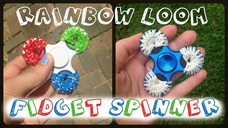 Rainbow Loom Fidget Spinner