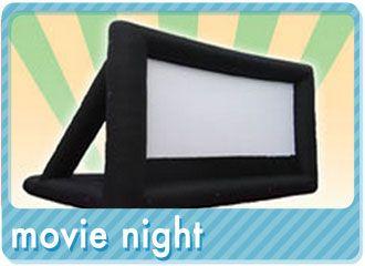 Outdoor Inflatable Movie Screen Rentals