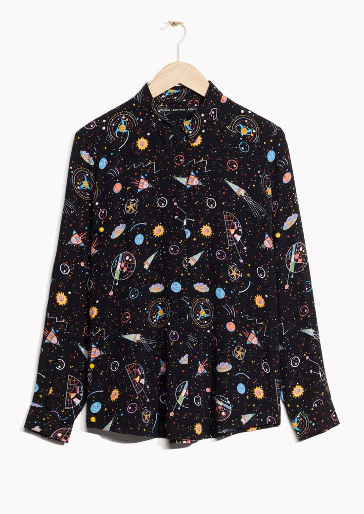 & Other Stories image 1 of Galaxy Print Shirt  in Black