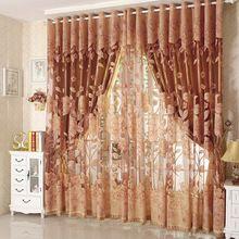 Forró eladó tüll az ablakok függöny Jacquard hímzett volie puszta sötétítőfüggöny a nappaliban a hálószobában vakok panel (Kína (szárazföld))