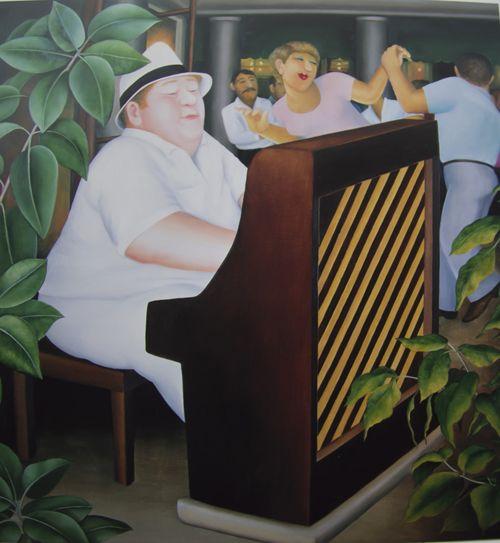 Beryl Cook ~ Piano Bar