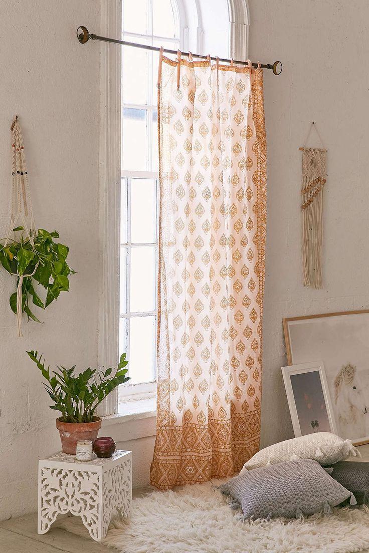 Plum & Bow Elysia Foil Curtain - Urban Outfitters