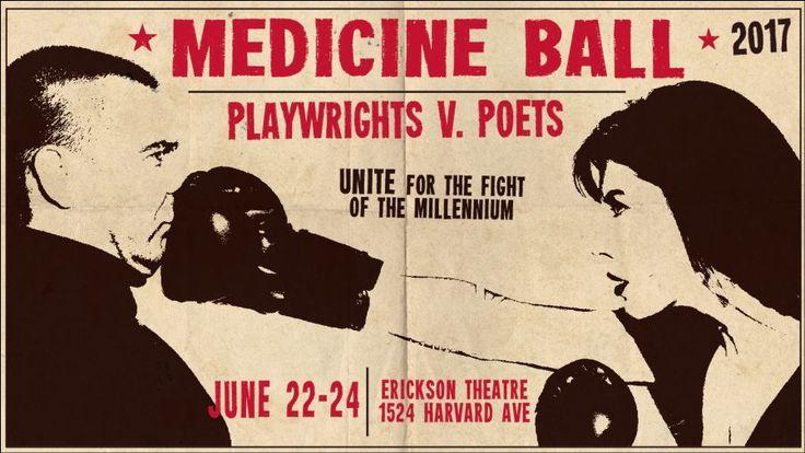 """Medicine Ball"": throwdown of the arts  http://www.lisamb.com/blog/the-art-of-medicine-visual-and-literary-throwdown5232017"