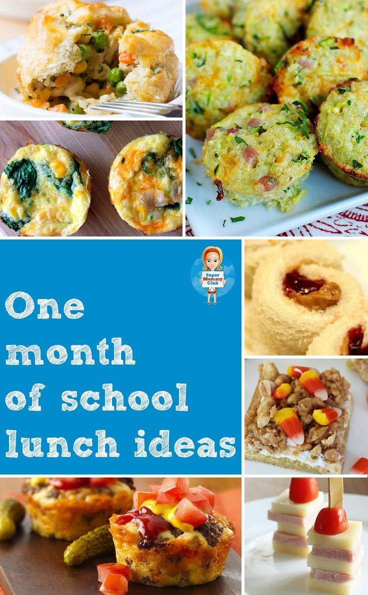 Your kids won't get bored thanks to a whole month's worth of school lunch ideas!
